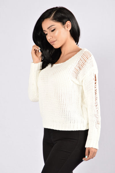 Never Stressed Sweater - Ivory