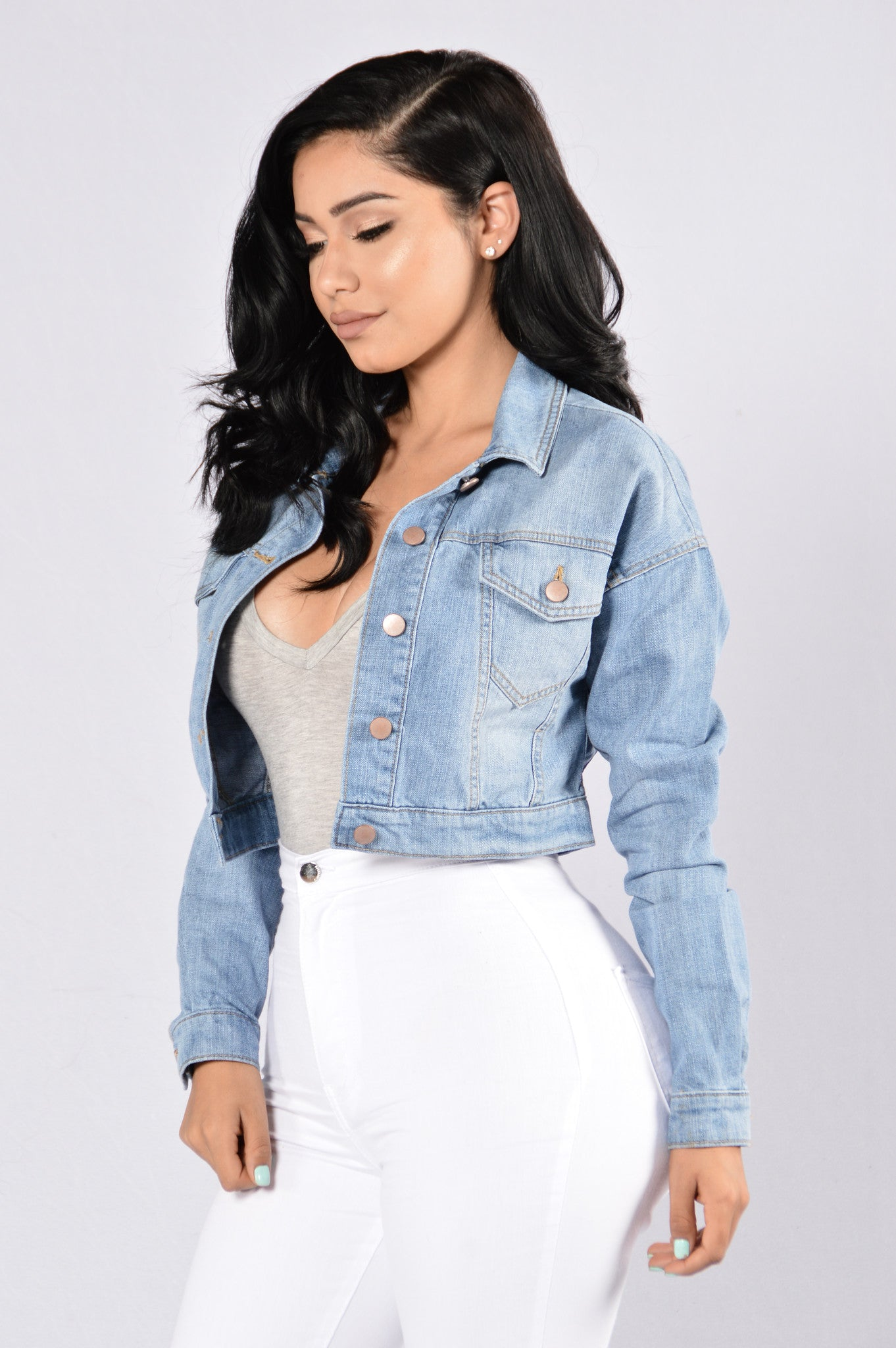 Keep It Short Denim Jacket
