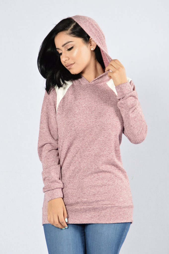 Cool and Comfy Sweater - Wine