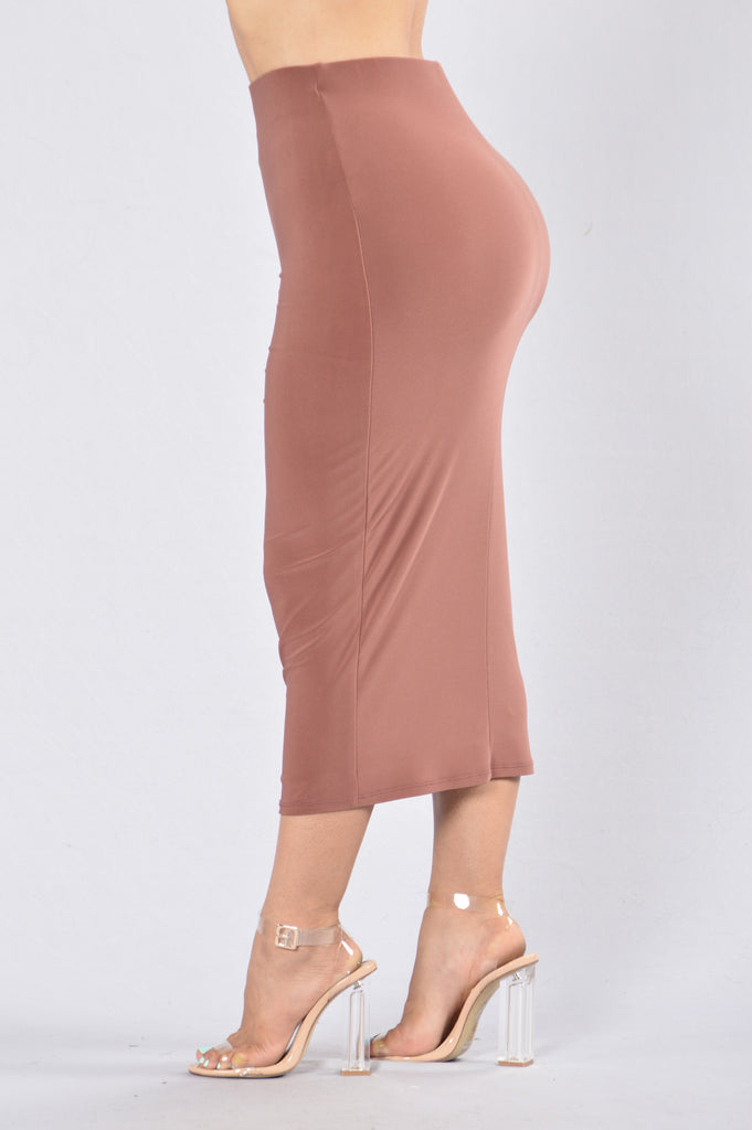 Rock My Body Skirt - Red Brown