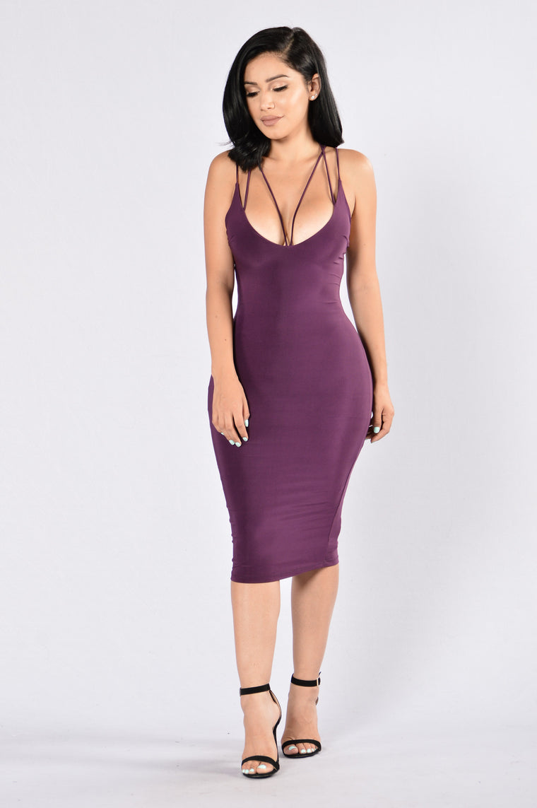Pros and Cons Dress - Purple