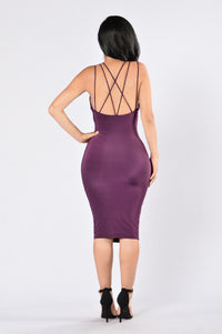 Pros and Cons Dress - Purple Angle 2