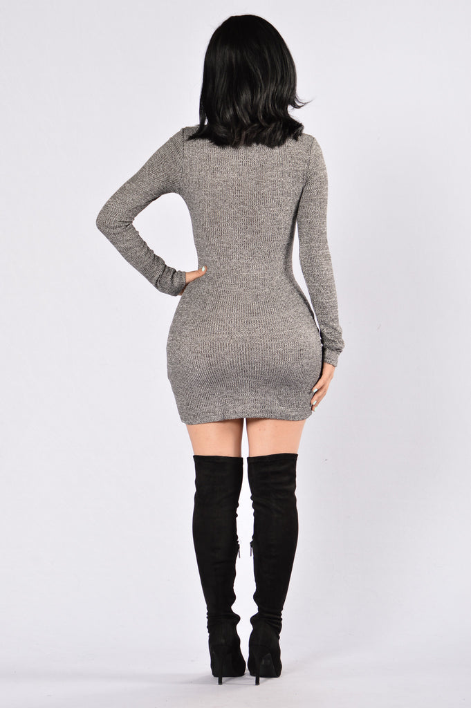 Jump The Gun Dress - Charcoal