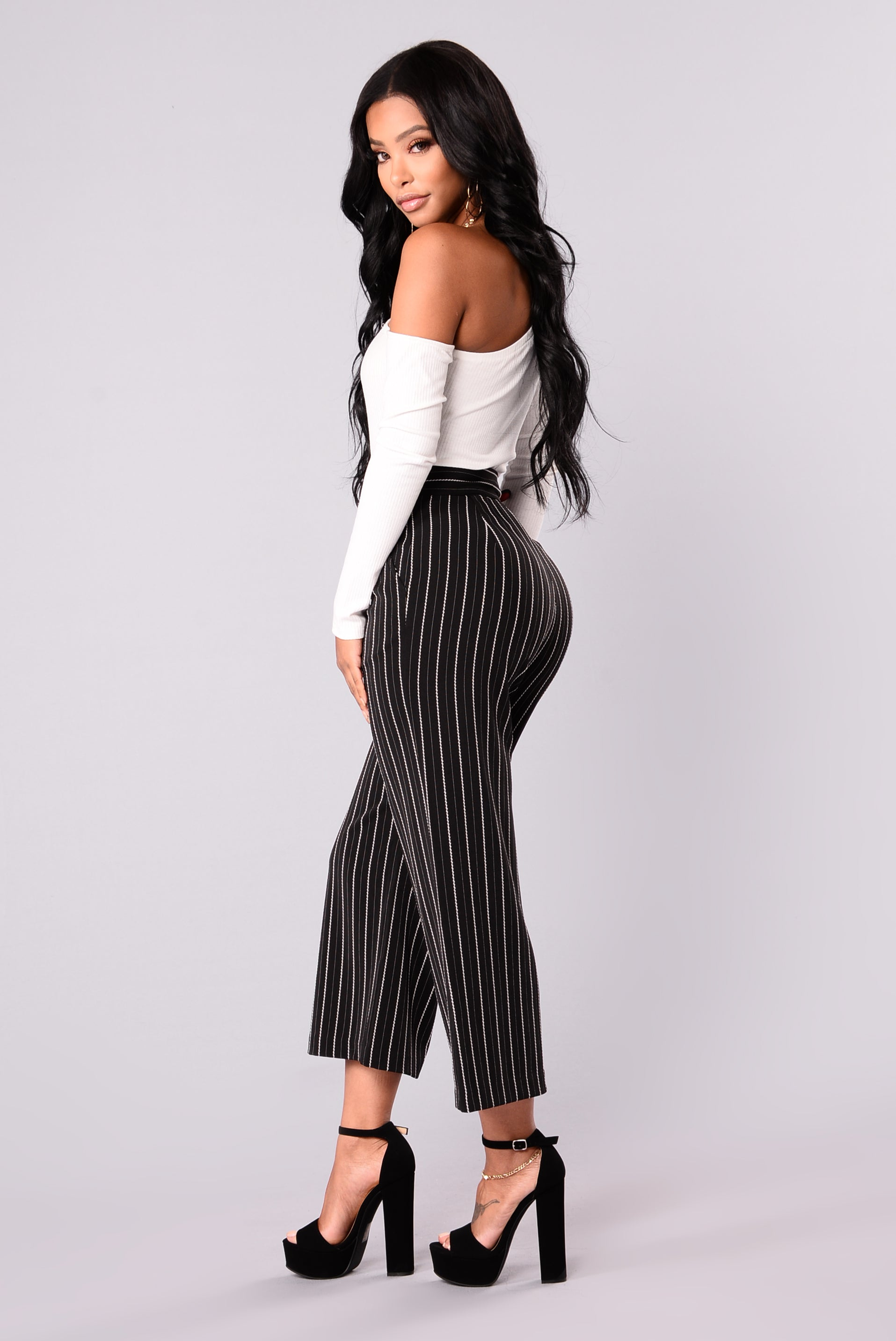 b439f98bb781 Kourtney Culotte Pants - Black White
