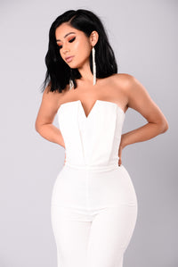 Miss Moody Jumpsuit - White Angle 2