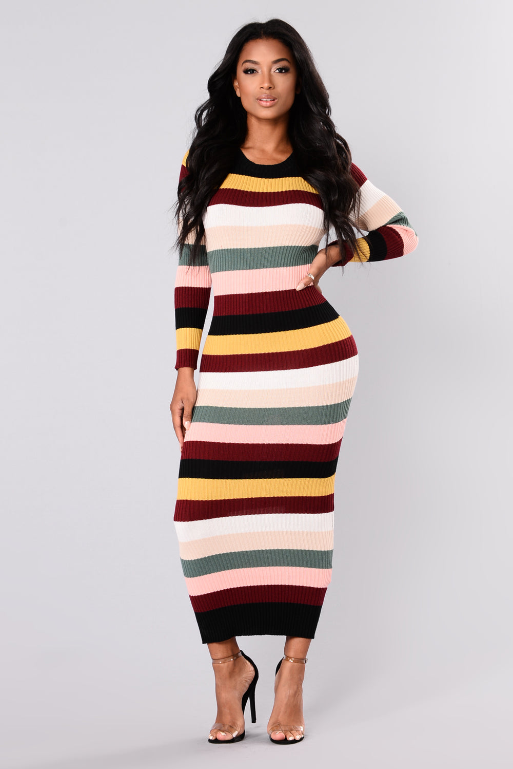 Prime And Pop Striped Dress - Multi