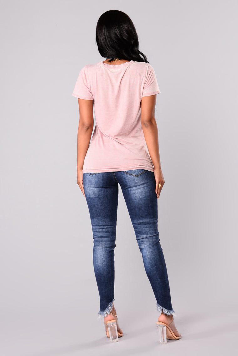 Jayla Short Sleeve Top - Dusty Mauve