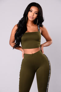 Girl Gang Lounge Set - Olive