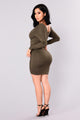 Hong Kong Ruched Dress - Olive