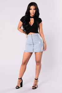 Not Your Main Squeeze Top - Black
