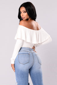 Chic And Sweet Top - Soft White