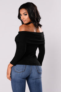 Paulina Off Shoulder Top - Black
