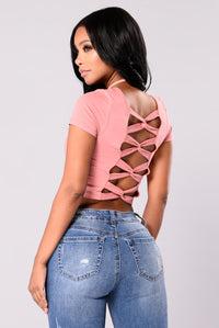 Camila Short Sleeve Top - Dusty Rose