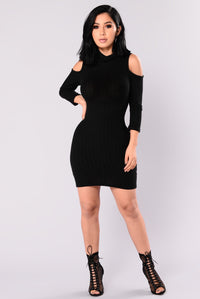Touch By Touch Cold Shoulder Dress - Black