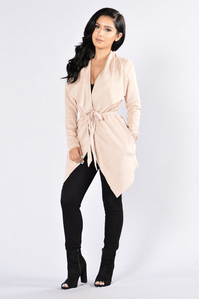 Nightwalker Trench Coat - Nude