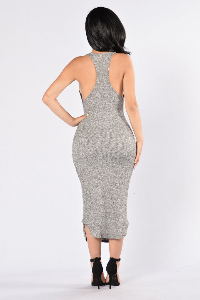 Devil In Disguise Dress - Grey