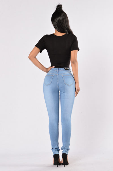 Love You Not Jeans - Medium Blue