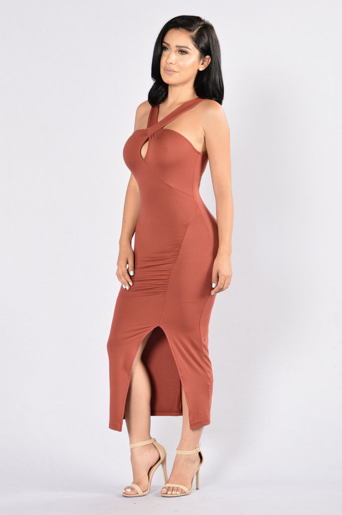 Hanging On Dress - Marsala