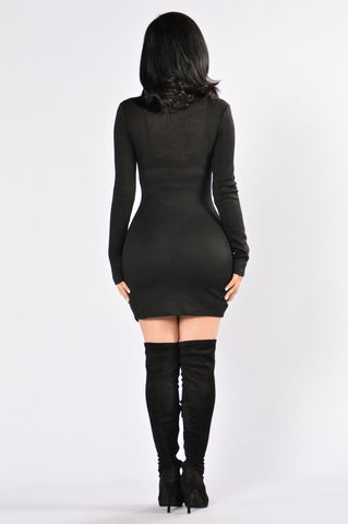 Jump The Gun Dress - Black