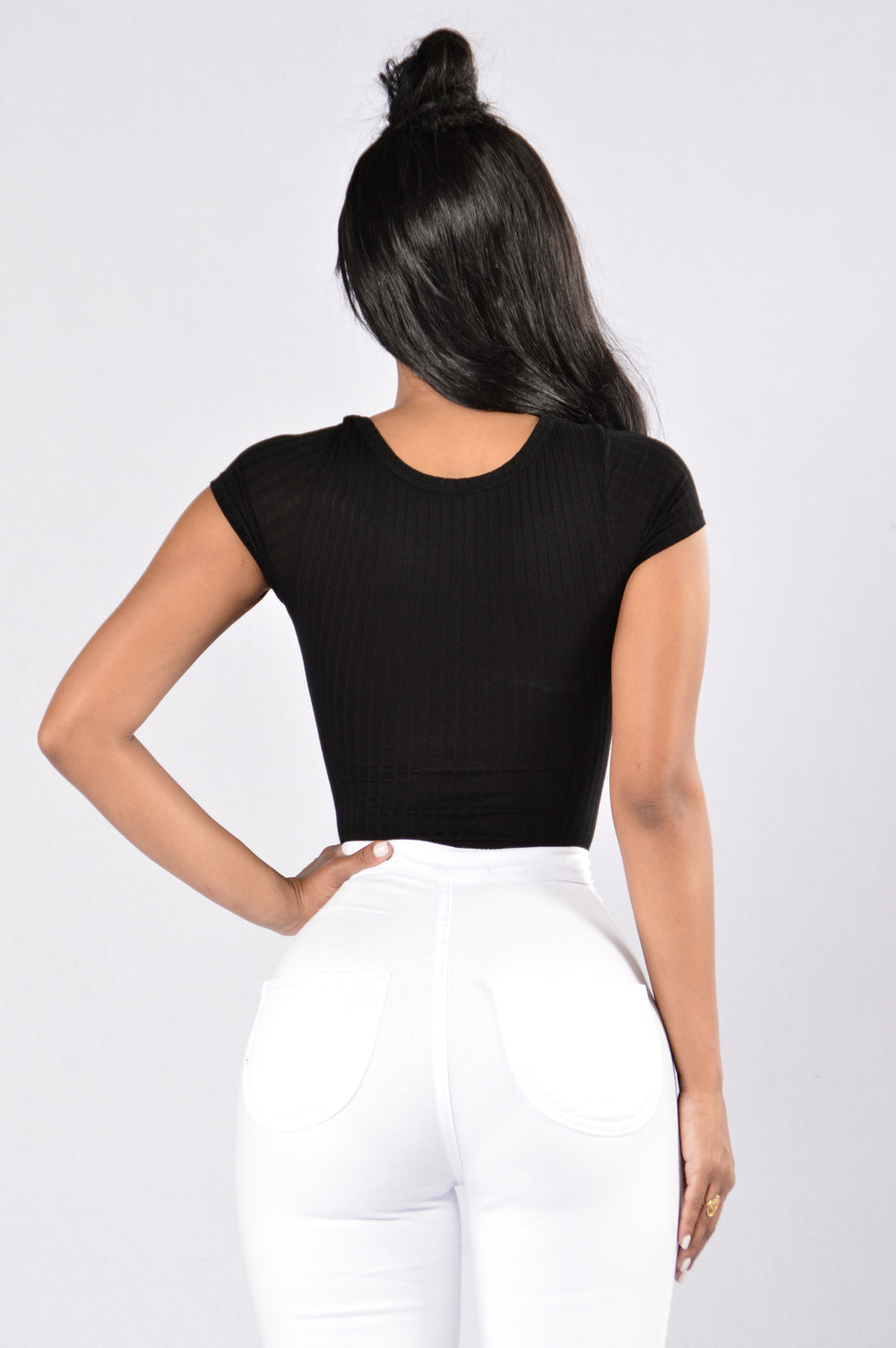 Can't Keep Track Bodysuit - Black