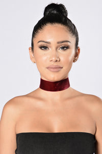 Oh No She Didn't Choker - Burgundy