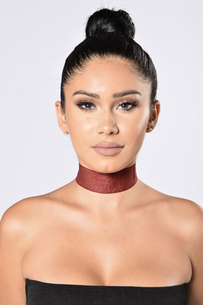 Bound To Fall Choker - Burgundy
