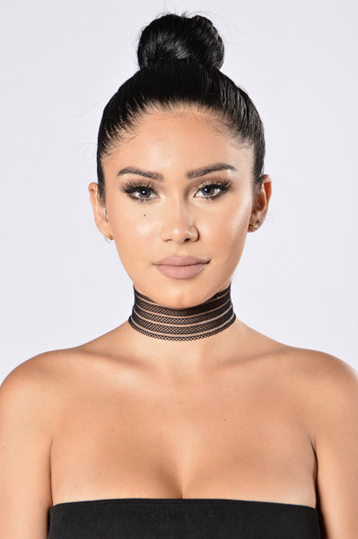 Night Life Choker - Black