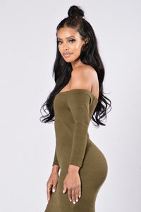 Grant One Wish Dress - Olive