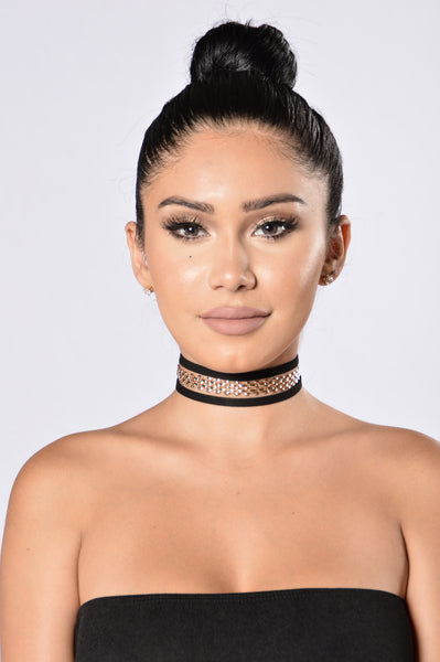 Thinking About You Choker - Black