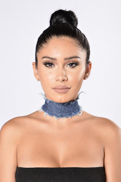 Mrs. West Choker - Dark Denim