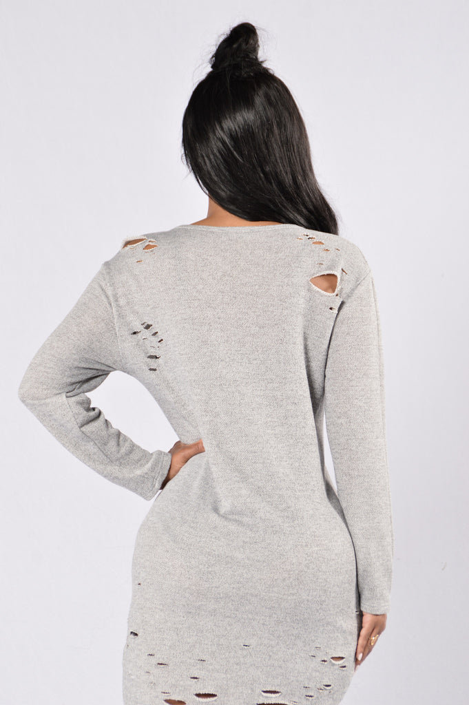 Beautiful Disaster Dress - Heather Grey