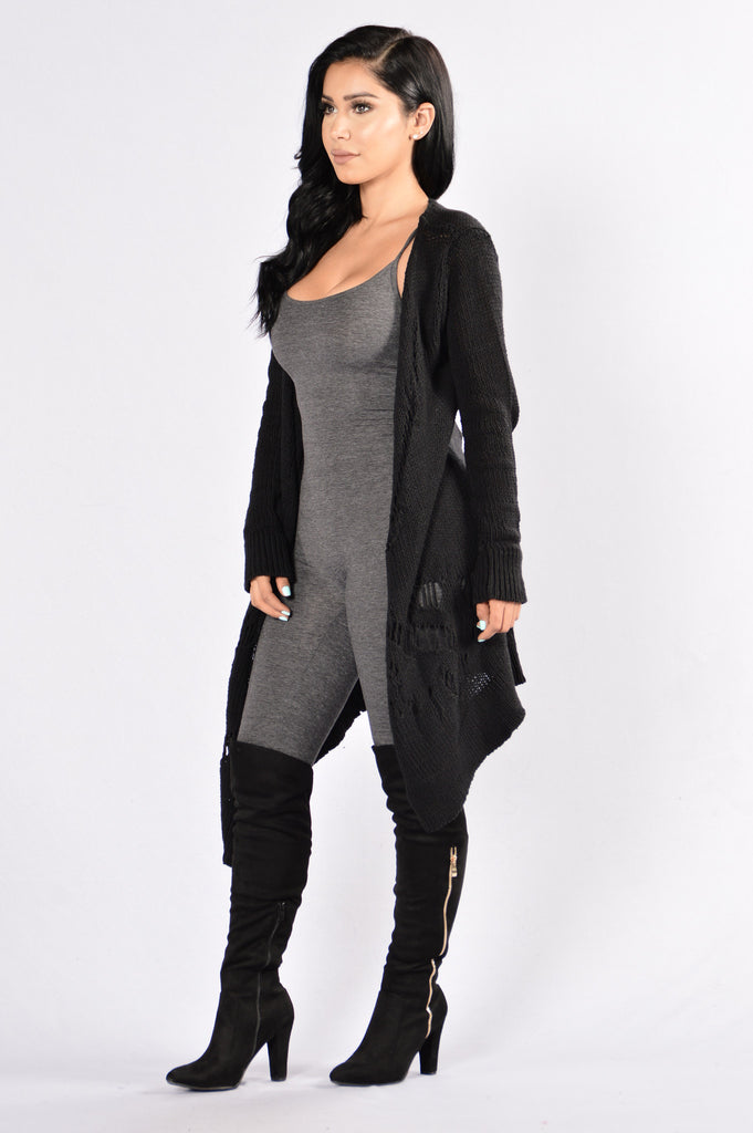 Keep Cozy Cardigan - Black