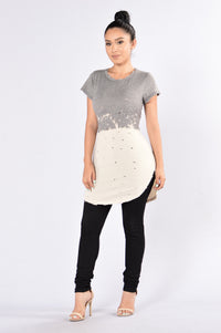 Don't Play Tunic - Grey/Ivory