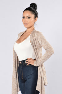 Always Here For You Cardigan - Khaki