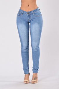 Flash The Keys Jeans - Medium Blue
