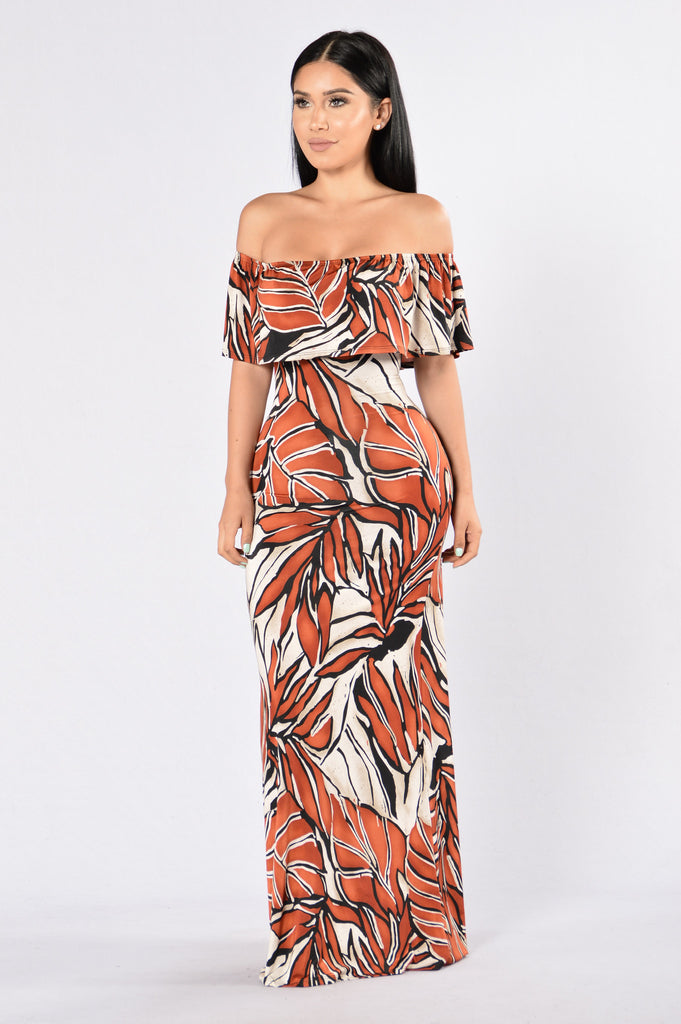 Saint Lucia Dress - Rust