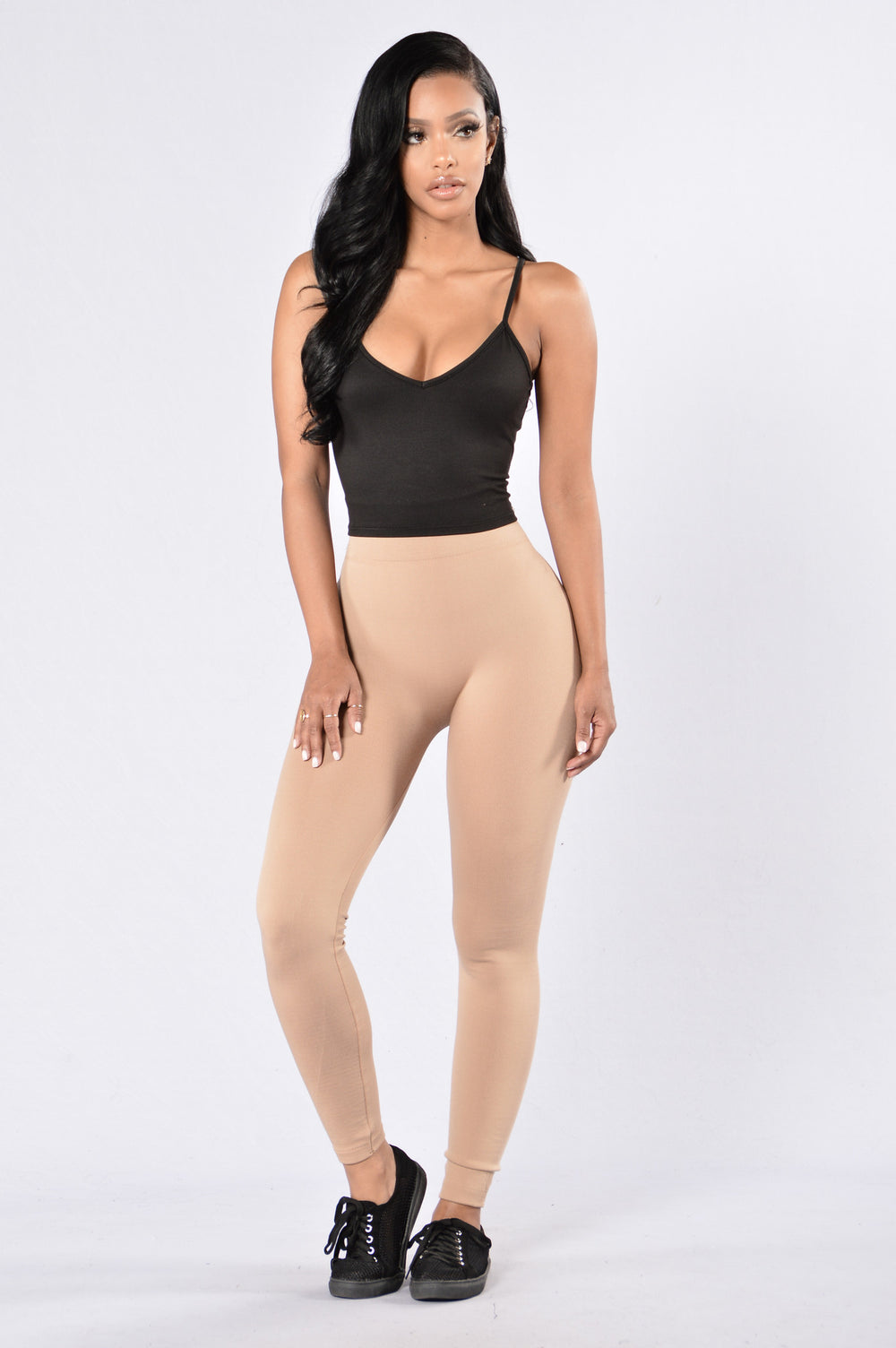 Yes Fleece Leggings - Nude