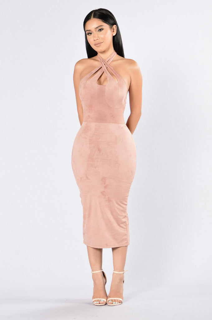 Don't Stress The Ex Dress - Mauve
