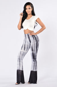 Kimmy Bell Bottom Pants - Charcoal