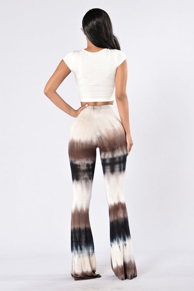 Mely Bell Bottom Pants - Brown