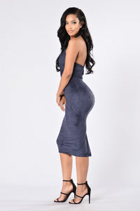 Don't Stress The Ex Dress - Navy Blue