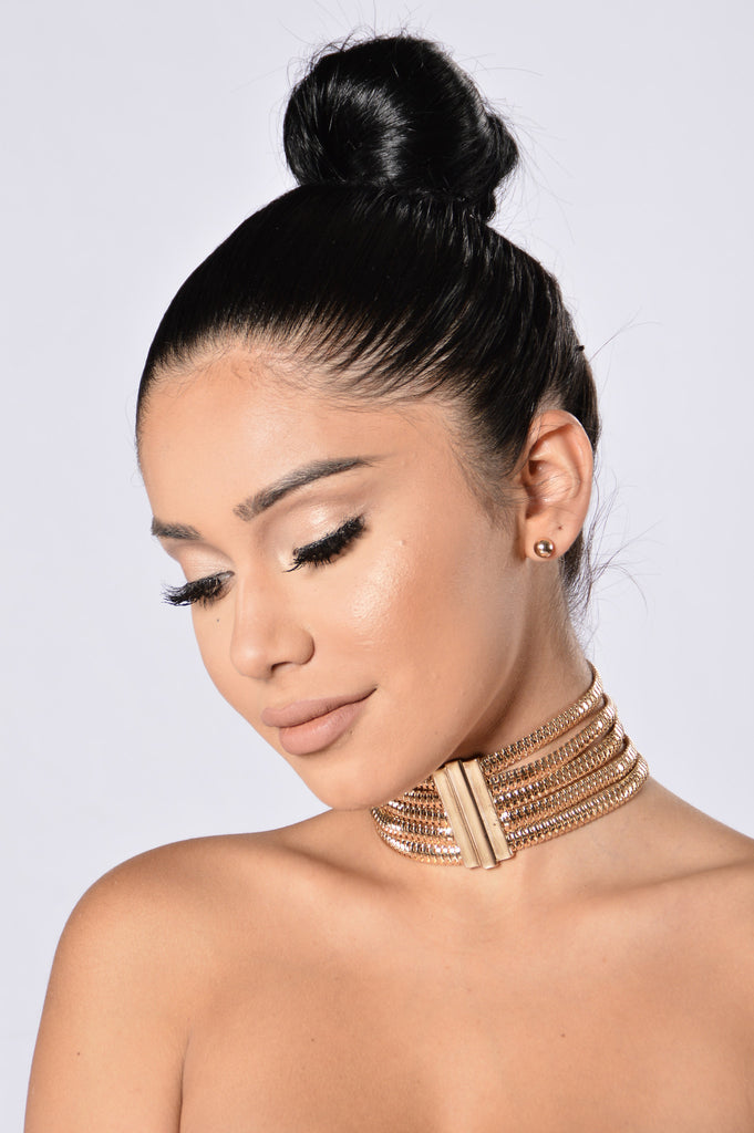 Go Big Or Go Home Choker - Gold