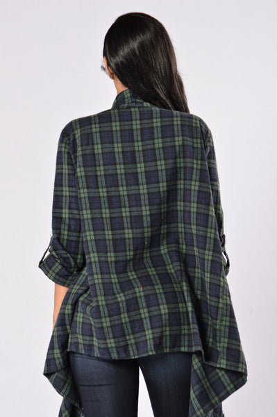 Always In Love Jacket - Green/Navy
