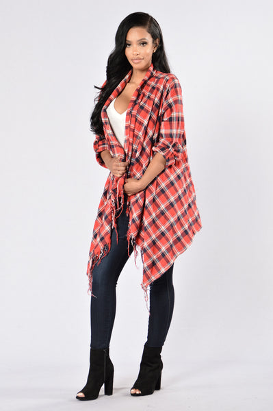 Snuggle By The Fire Jacket - Red/White