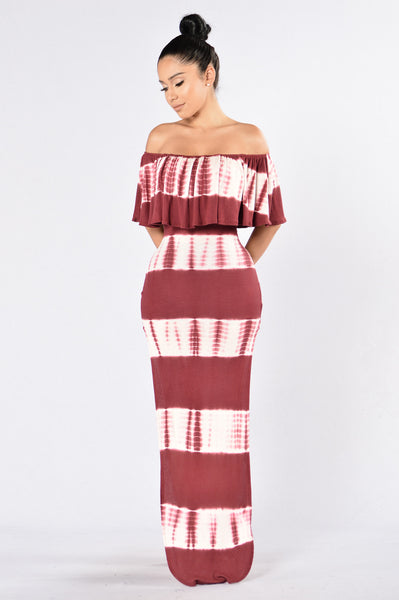 Fiesta Dress - Burgundy