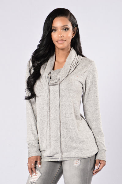 Keep It Chill Top - Heather Grey