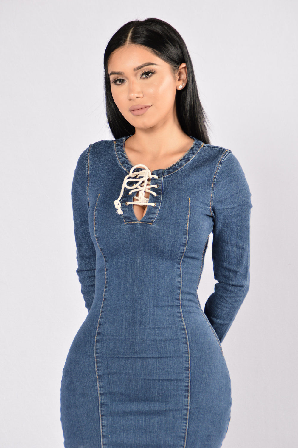 Mix It Up Dress - Dark Denim