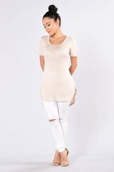 Scoop of the Day Tee - Taupe