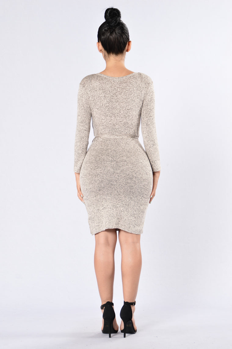 You're Alright Dress - Taupe