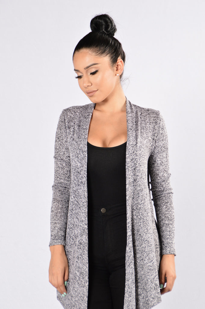 Always Here For You Cardigan - Black